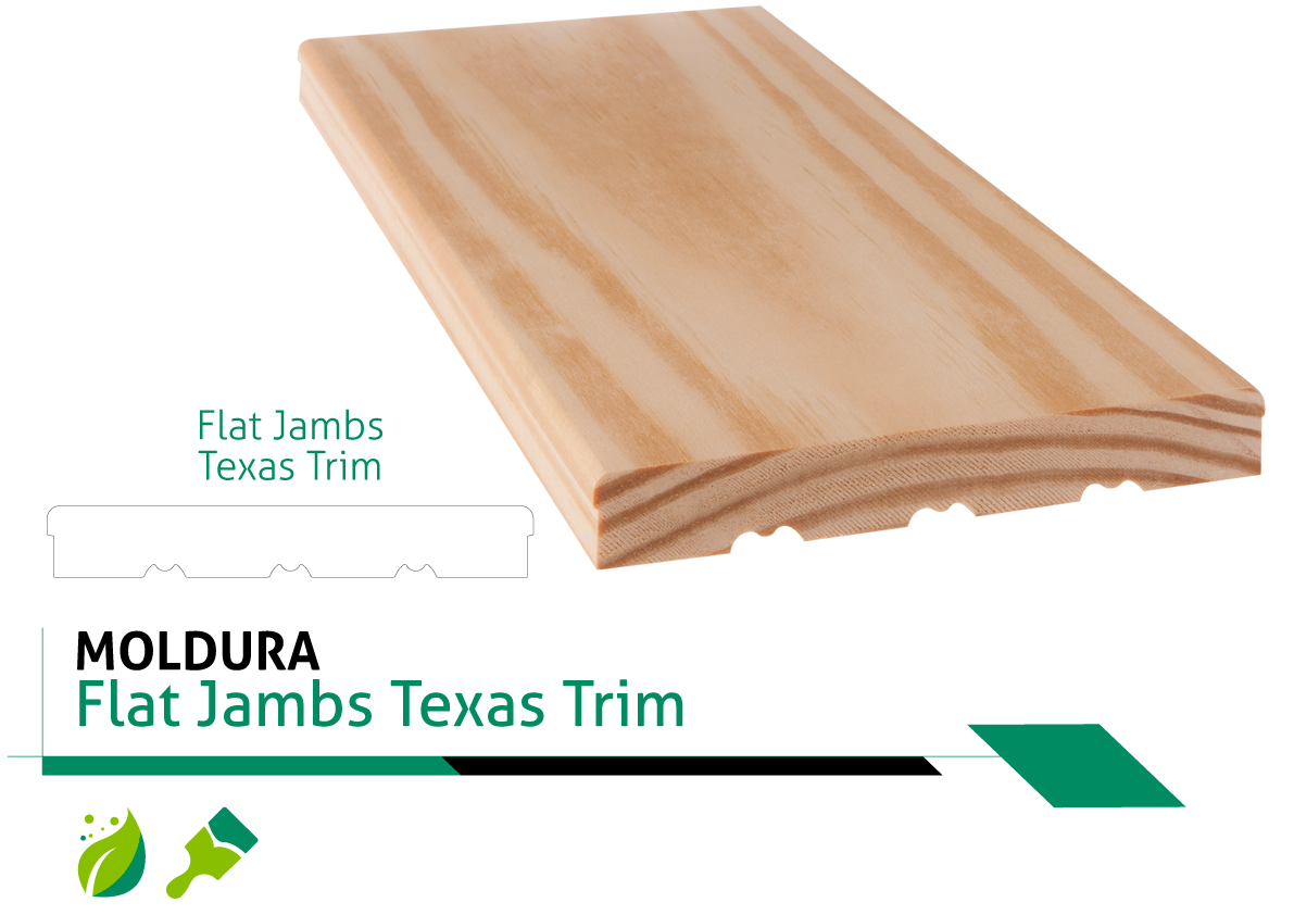 Moldura Flat Jambs Texas Trim