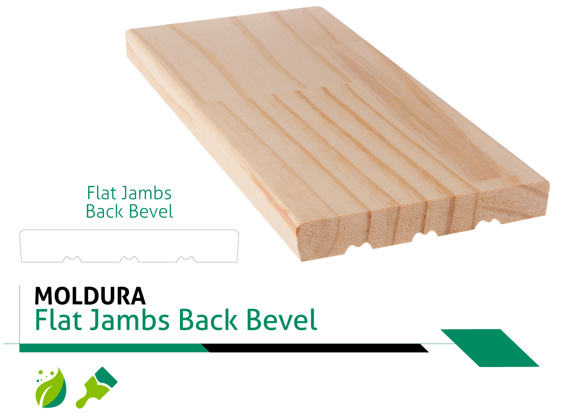 Moldura Flat Jambs Back Bevel