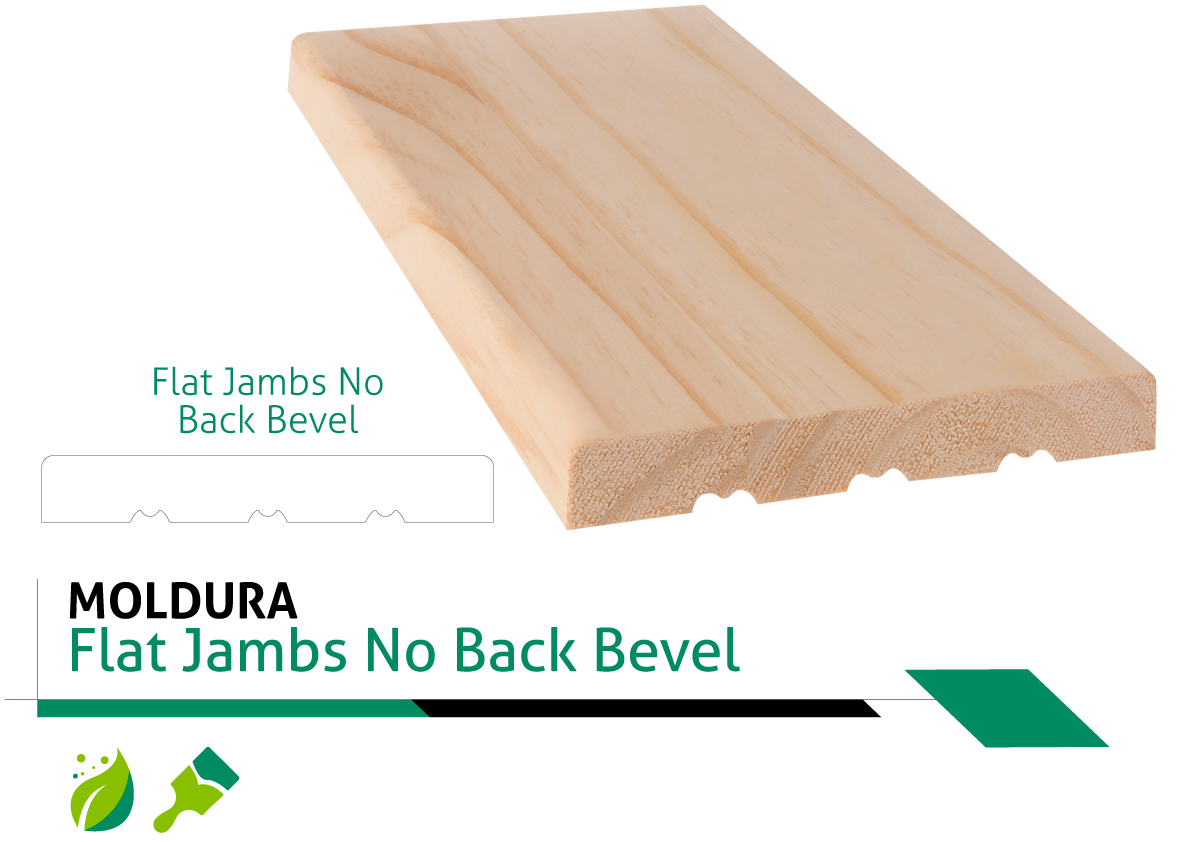 Moldura Flat Jambs No Back Bevel